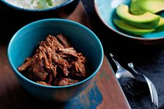 Shredded beef. Smoky paprika, sweet allspice and pickled jalapenos give this beef dish intense flavour.