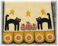 Halloween Cats & Jacks Penny Rug/Penny Pocket door pennylaneprims