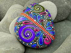 Creative Spirit / Painted Rock / Sandi Pike Foundas / Cape Cod. $44.00, via Etsy.