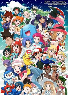 Happy 20th Anniversary Pokémon Ash and his Friends of Humans and Pokémon Part 2.