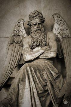 Chronos Statue Staglieno Cemetery, Genoa, Italy