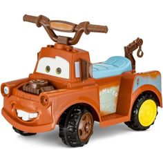 Kid Trax Disney Pixar Cars 3 Tow Mater 6 Volt Toddler Quad Electric Ride-on - JCPenney Disney Pixar Cars, Disney Toys, Disney Mickey Mouse, Theme Mickey, Tow Mater, Lightening Mcqueen, Disney With A Toddler, Hobby Toys, Kids Ride On