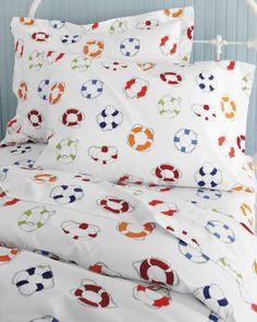 Life Ring Percale Bedding by Garnet Hill #nautical