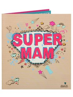 Super Mam Doodle Mother's Day Card - Cards - Mothers Day | Clintons