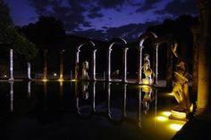 Villa Hadriana, Tivoli. The Canopus at night.