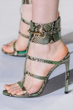 Gucci sandals at Milan Fashion Week