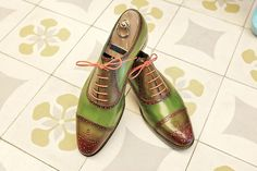 Dominique Saint Paul | Dominique Saint Paul half brogue shoes MTO and hand coloured