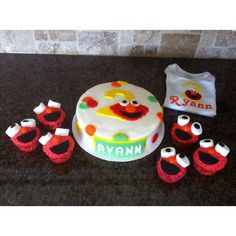 Made for my niece's Elmo party.