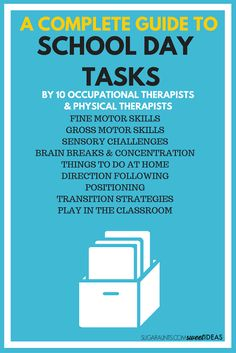 A complete guide to school day tasks and functional skills occurring naturally…