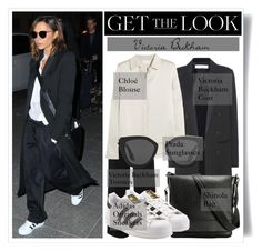 """""""Get the Look: Victoria Beckham"""" by plnzh ❤ liked on Polyvore featuring Victoria Beckham, Chloé, Shinola, adidas and Prada"""