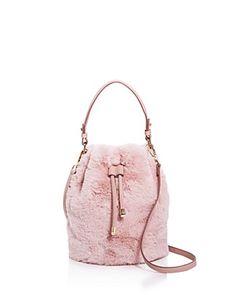 0eb143ef59 Street Level Faux-Fur Bucket Bag - 100% Exclusive Handbags - Bloomingdale s
