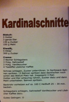 Kardinalschnitte Austrian Recipes, Austrian Food, Let Them Eat Cake, Healthy Snacks, Recipies, Food And Drink, Desserts, Sweet, Recipes