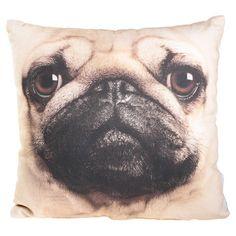 Mountain x Fab: Pug 18x18 Pillow we know what dogs @Jenae Neeson and @Matt Gismondi  would use...
