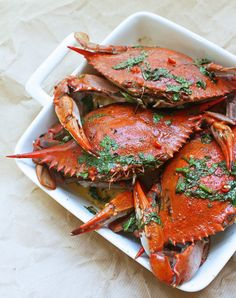 Blue Crabs with Chipotle & Lime Brown Butter Sauce