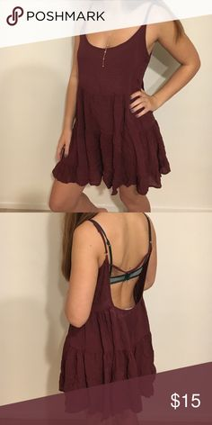Burgundy Brandy Dress Perfect Condition (No Longer Sold in Stores) Brandy Melville Dresses