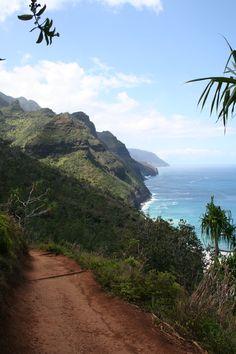 Kalalau Trail, Kauai. Did the 4 mile hike but I would love to do the 22 mile hike my senior year summer!