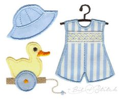 Product categories Appliqués for Kids Archive - A Bit of Stitch Embroidery Applique, Machine Embroidery, Embroidery Designs, Baby Boy Fashion, Rompers, Crafty, Stitch, Boys, Projects