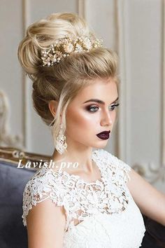 Glamorous wedding hair updo