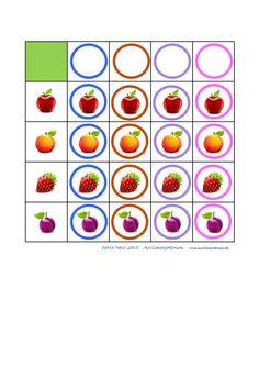 Tiles for the fruit cirkel matrix Autismespektrum Kids Education, Fruits And Vegetables, Games For Kids, Tiles, Note Cards, Food Items, Autism, Fruits And Veggies, Snacks