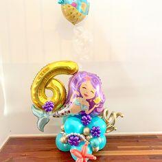 Balloon Decorations Party, Balloon Garland, Birthday Decorations, Balloon Flowers, Balloon Bouquet, Little Mermaid Birthday, The Little Mermaid, Birthday Balloons, 4th Birthday