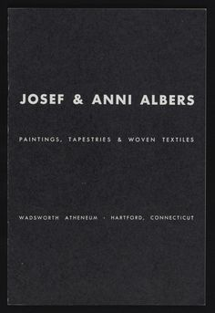 Josef & Anni Albers: Paintings, Tapestries & Woven Textiles