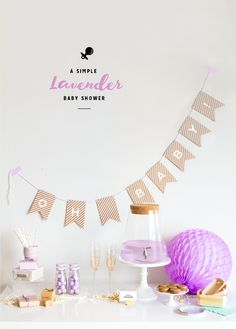 A Simple Lavender Baby Shower