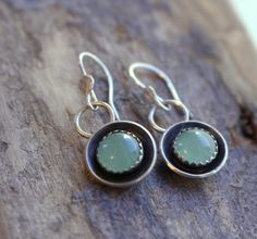 A personal favorite from my Etsy shop https://www.etsy.com/listing/235674470/adventurine-sterling-silver-dangle