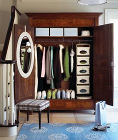antique armoire in your entry