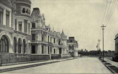 La calle de Berlin hacia la calle de Londres 1907 fotografía de Alfredo Kahlo. La colonia aun se llamaba Americana posteriormente  cambia su nombre a Colonia Juárez