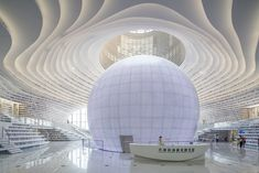 Image 14 of 23 from gallery of Tianjin Binhai Library / MVRDV + Tianjin Urban Planning and Design Institute. Photograph by Ossip van Duivenbode