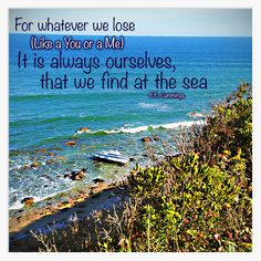 """""""For whatever we lose (lIke a you or a me) It is always ourselves we find at the sea"""" EE Cummings Ee Cummings, Block Island, Rhode Island, New England, Trail, Boat, Quotes, Beautiful, Island"""