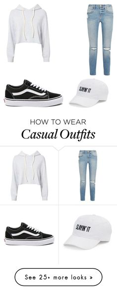 """Casual Wear"" by malanee-jessica-stevenson on Polyvore featuring Vans, Monrow, Frame and SO"