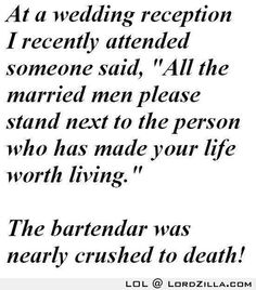 Funny Wedding Joke