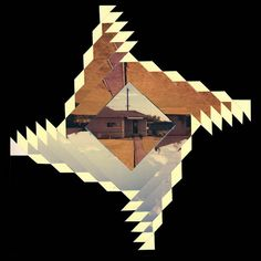 Geometric Collages From Old Sliced Photographs by Randy Grskovic (series title: Distortions of the Past; Collaborations for the Future)