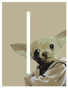 Digital Print Chihuahua Yoda Star Wars Pop Art by WilsonInc, $10.00