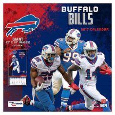 Buffalo Bills 2017 Calendar, Multicolor