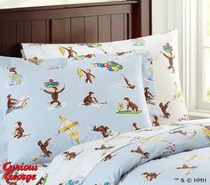 Pottery Barn Kids offers kids & baby furniture, bedding and toys designed to delight and inspire. Create or shop a baby registry to find the perfect present. Curious George Bedroom, Big Girl Rooms, Kids Rooms, Organic Cotton Sheets, Baby Furniture, Bedroom Bed, Duvet Sets, Pottery Barn Kids, New Room