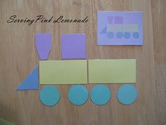 magnet board activity for the kids - make the shapes look like the picture