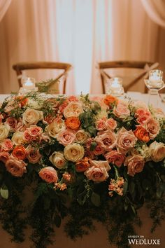 No, you aren't wearing rose coloured glasses. | Photography By: Joel Bedford Photography. | WedLuxe Magazine | #Wedding #luxury #weddinginspiration #rose #floral #flowers #centrepieces #centerpieces #eventdecor
