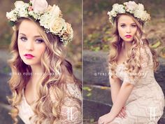 Vintage-styled senior session...soft and pretty.