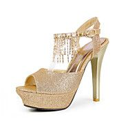 Leatherette Stiletto Heel Peep Toe / Sandals ... – USD $ 23.99