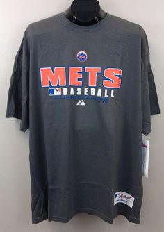 NY Mets Tee XL Majestic Gray NEW/NWT MLB Authentic Collection New York $28 RET #MajesticVFImagewear #NewYorkMets