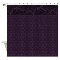 Shop Royal Purple Damask Shower Curtain designed by CapturedbyKC. Lots of different size and color combinations to choose from. Dark Purple Bathroom, Purple Bathrooms, Purple Rooms, Purple Teal, Plum Bedroom, Goth Bedroom, Cream Bedrooms, Plum Decor, Purple Home Decor