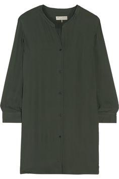 EMILIO PUCCI Silk-Georgette Shirt Dress. #emiliopucci #cloth #dress