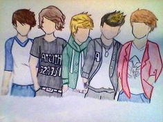 One Direction Drawing. $6.00, via Etsy.