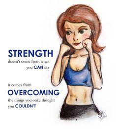 Strength - Fitness & Health inspired illustration - Art Print. $20.00, via Etsy.