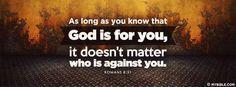 Romans 8:31 NKJV - God Is For Us. - Facebook Cover Photo