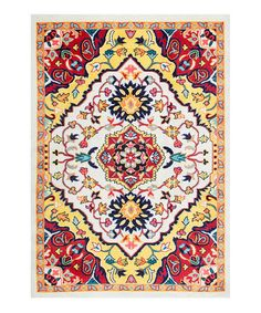 Another great find on #zulily! Red Floral Medallion Donita Area Rug #zulilyfinds
