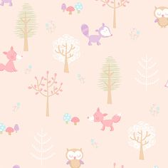 """You Are My Sunshine 33' x 20.5"""" Forest Friends Animal Wallpaper"""