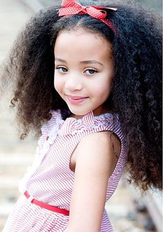 Post A Picture of how you eventually want your hair to look. - Page 4 - Long Hair Care Forum Beautiful Children, Beautiful Babies, Stylish Children, Fashion Children, Gorgeous Girl, Children Clothing, Healthy Relaxed Hair, Curly Hair Styles, Natural Hair Styles